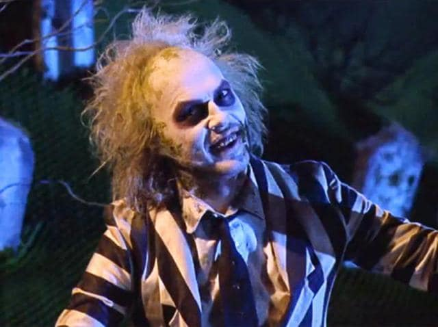 Michael Keaton in a still from Tim Burton's Beetlejuice.