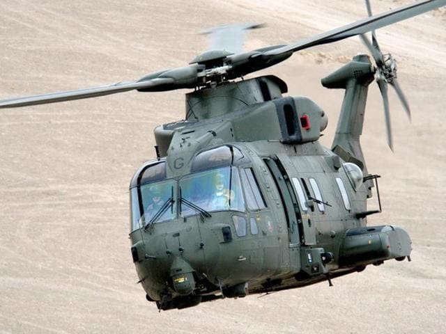 A file photo of AgustaWestland AW101 chopper, configured to meet diverse roles for pre-dominantly Maritime and Utility tasks.