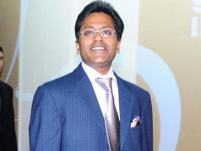 Lalit Modi at a press conference in Mumbai in 2010.