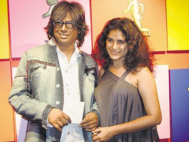 Chintan Upadhyay with wife Hema