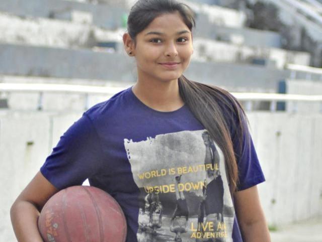 Ludhiana girl,Anmolpreet Kaur Pannu,basketball training