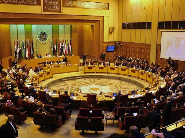 In this file photo, Arab foreign ministers are seen attending an emergency Arab League session in Cairo.