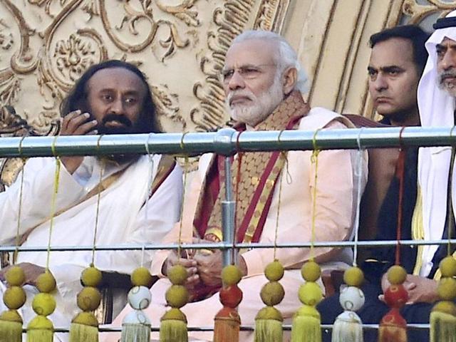 Sri Sri Ravi Shankar,Narendra Modi,Yamuna