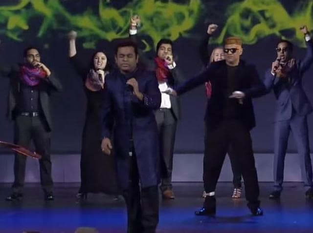 AR Rahman delivers a futuristic performance.