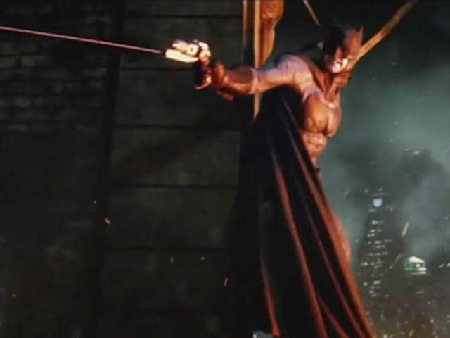 Ben Affleck as The Dark Knight in Batman v Superman: Dawn of Justice.