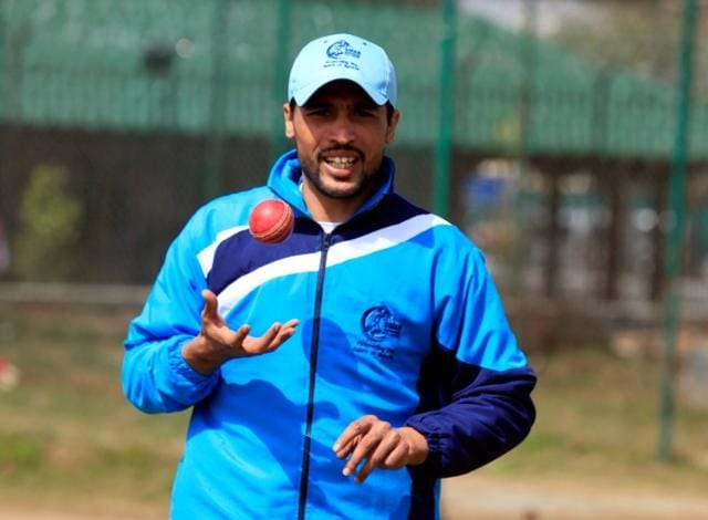 Pakistan pace bowler Mohammad Amir takes part in a practice session at a cricket ground in Rawalpindi.
