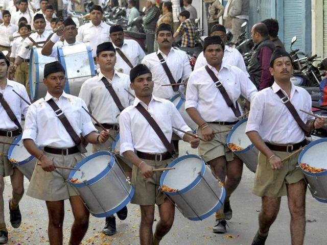 RSS announced on Sunday it will ditch the Khaki shorts for brown trousers, as the organisation makes a pitch for younger members.