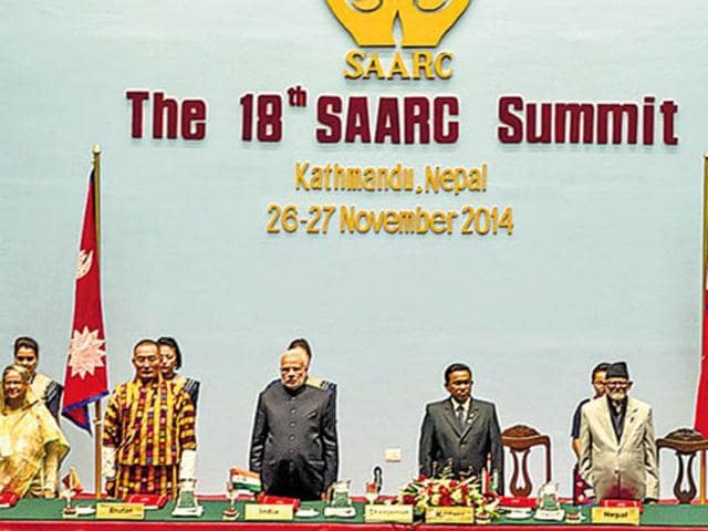 Prime Minister Narendra Modi at the 18th SAARC summit, held in Kathmandu from November 26 to 27, 2014. The 19th edition of the event will be held in Islamabad this year.