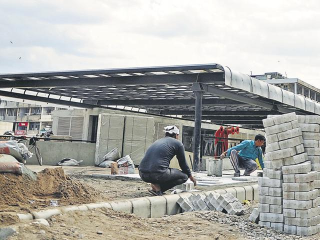 """Mayor Arun Sood said, """"We will throw open the parking lot on April 1. We are putting finishing touches to the building."""""""