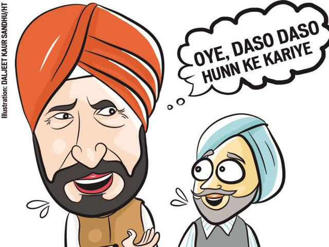 "Newly appointment leader of the Congress Legislature    Party (CLP) in the Punjab assembly Charanjit Singh Channi is trying to learn the ropes. Talking  to reporters  after the CLP meeting the other day, Channi repeatedly turned to his party colleagues to ask:  ""oye daso daso hunn ke kariye."""
