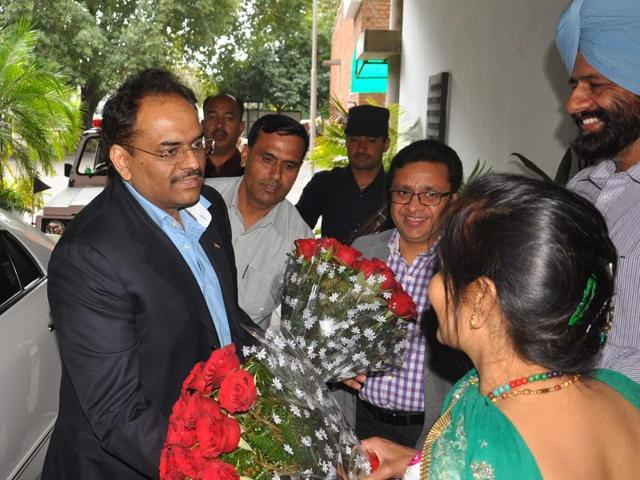 Parimal Rai reached the city at 10am and headed straight to his government accommodation in Sector 7.
