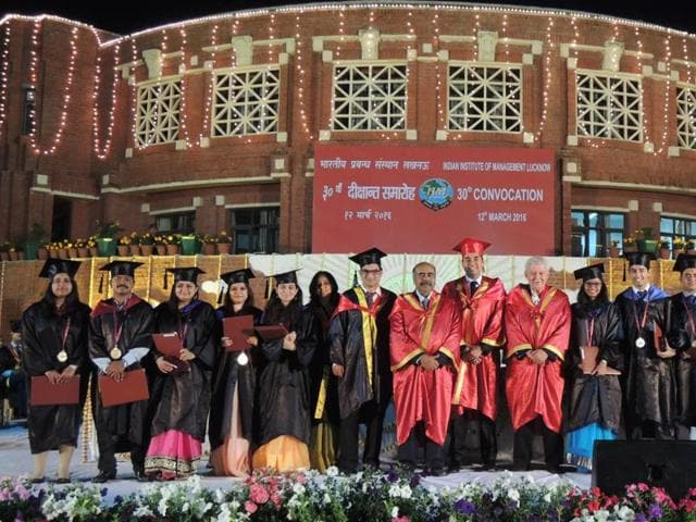 30th annual convocation ceremony at IIM Lucknow, Lucknow on Saturday.