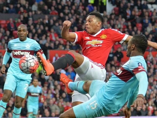 Manchester United vs West Ham,FA Cup quarterfinal,Anthony Martial