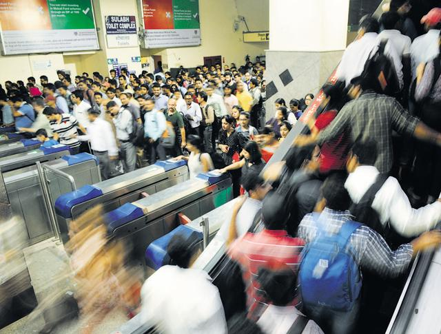 The five metro stations in Gurgaon cater to a daily average ridership of 1.5 lakh, one-third of which is from Huda City Centre.