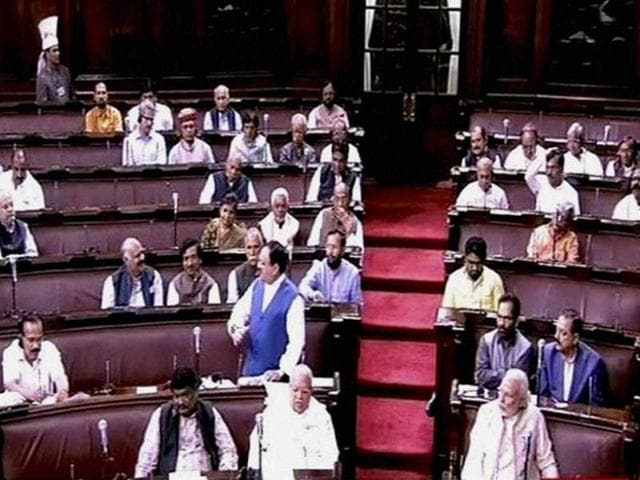 Congress party gave a notice on the Vijay Mallya issue in the Rajya Sabha on Monday.