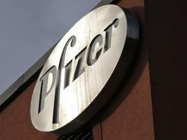 Shares of pharmaceutical firm Pfizer slumped nearly 7% on Monday.