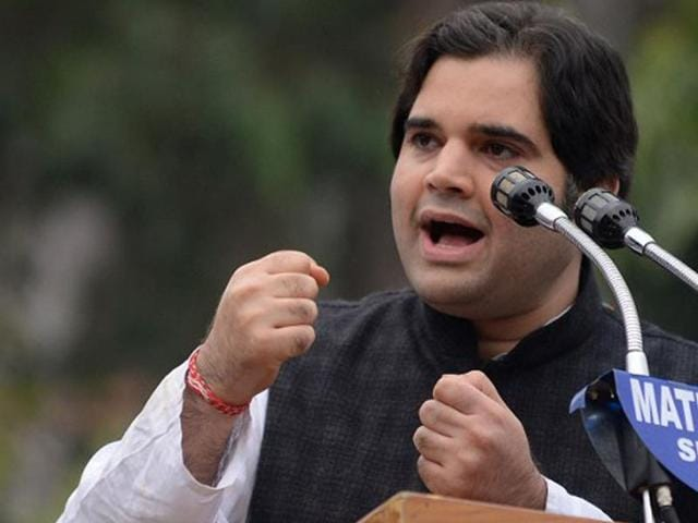 BJP's MP of Sultanpur, Varun Gandhi was on a makeshift stage that was overcrowded with his supporters. The dais soon gave way. Gandhi was in Moradabad to celebrate his 35th birthday on Sunday.