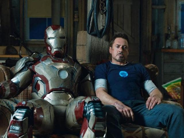 Old buddies: We may never get to see Downey as Iron Man again.