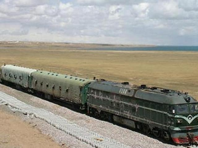 The Qinghai-Tibet Railway link - the first railway network that connects TAR to any other province.