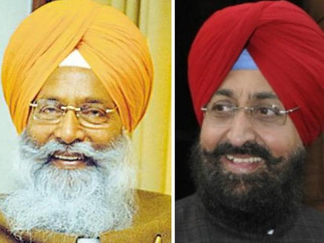 Sukhdev Singh Dhindsa from SAD (left) and Partap Singh Bajwa from Congress (right) who were elected to Rajya Sabha.