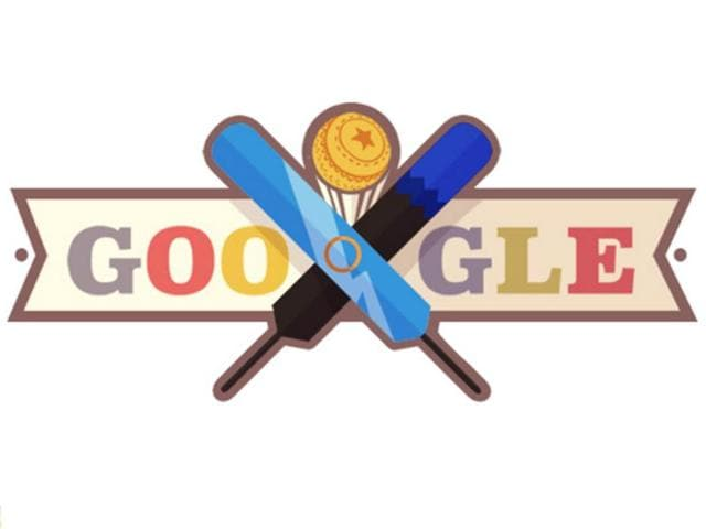 Google has marked the much-anticipated encounter between India and New Zealand at the ICC World T20 by dedicating its latest doodle to the cricket match