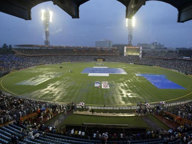 Even though it was a practice game, the fact that Pakistan were playing in India after over three years was reason enough for the press box to be full.