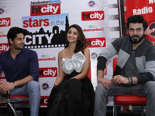 Kapoor and Sons' starcast, Sidharth Malhotra, Alia Bhatt and Fawad Khan, at HT City Stars in the City.