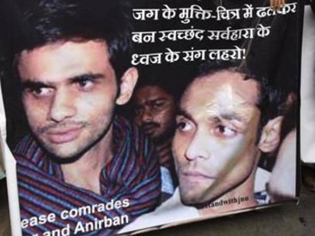 Umar Khalid (pictured) and Bhattacharya are in judicial custody  since they surrendered last month.