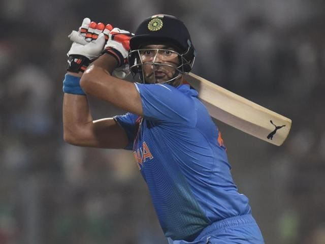 Yuvraj Singh was dismissed caught and bowled by Nathan McCullum for just 5.