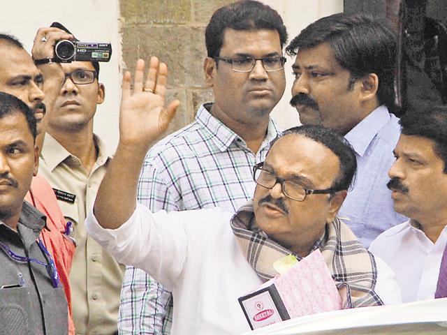 Chhagan Bhujbal was interrogated at the ED office on Monday for the Maharashtra Sadan University money laundering case in Mumbai.