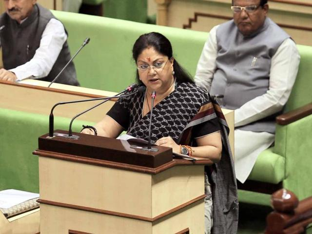 This budget, Raje said, focuses on welfare schemes, infrastructure and ensuring peace and tranquillity in the state.