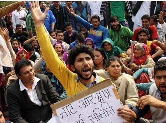 The BJP government in the state plans to provide 10% reservation under a newly-created category – Backward Classes (C) – to Jats, Jat Sikhs, Bishnois, Rors and Tyagis in Class 3 and 4 government jobs and educational institutions. For Class 1 and 2 jobs, the reservation will be 5%.