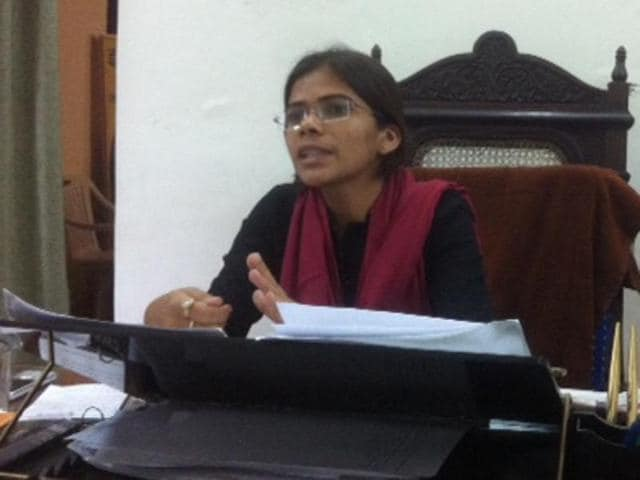 Richa Singh symbolises the independent, critical woman voice. At her office in Allahabad University.