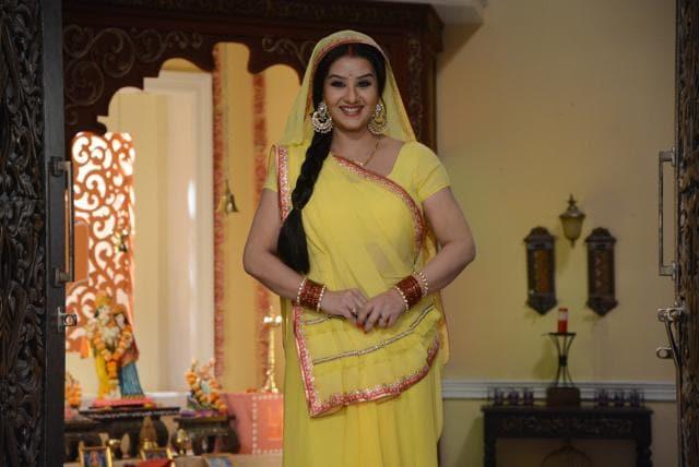 Actor Shilpa Shinde in a still from Bhabhi Ji Ghar Par Hain