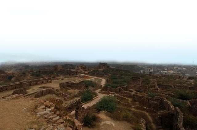 Proposed sight for biodiversity park by DDA at Tughlakabad in south Delhi .
