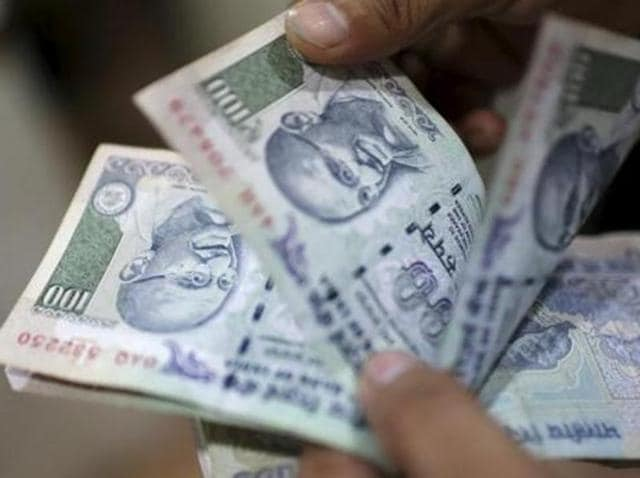 The rupee depreciated by 5 paise to 67.43 against the US dollar at the Interbank Foreign Exchange in early trade on Wednesday.