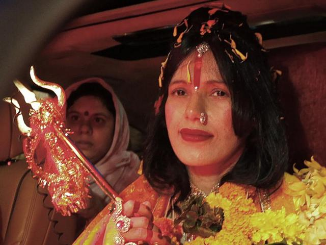 Radhe Maa had entered the domestic and international airport premises in August 2015 carrying the trishul.