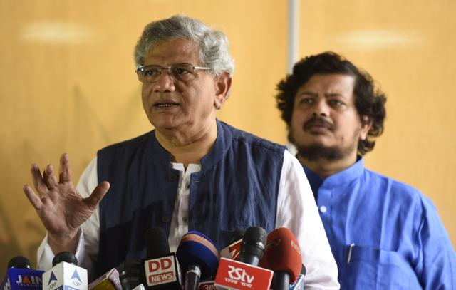 Equating Finance Minister Arun Jaitley's comments with US President George Bush's 'either you are with us or with the terrorists' assertion, CPI(M) General Secretary Sitaram Yechury on Sunday  said they would not take lessons in nationalism from the BJP