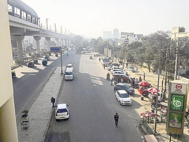 Lack of parking space force commuters to park on the road leading to jams during peak hours.