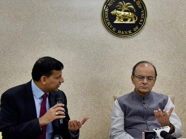 India's Finance Minister Arun Jaitley gestures while giving his closing remarks during the