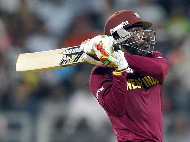 Gayle took 47 balls to complete his century with five fours and 11 sixes and breaking his own record of a 50 ball hundred.