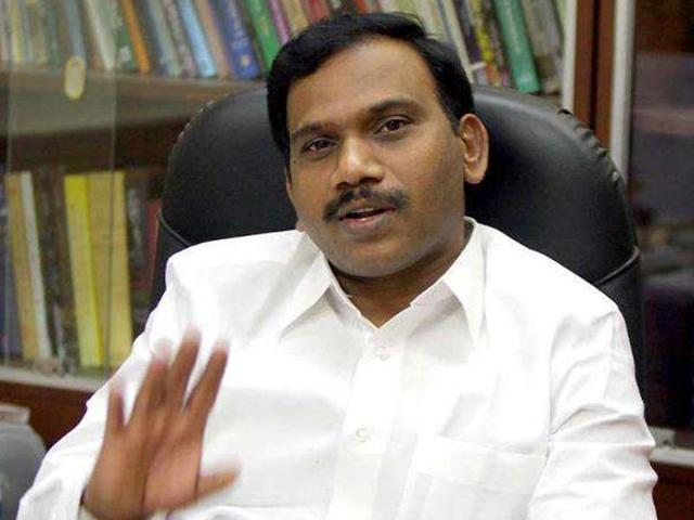 Former telecom minister A Raja was named as a key conspirator in the 2G spectrum scam.