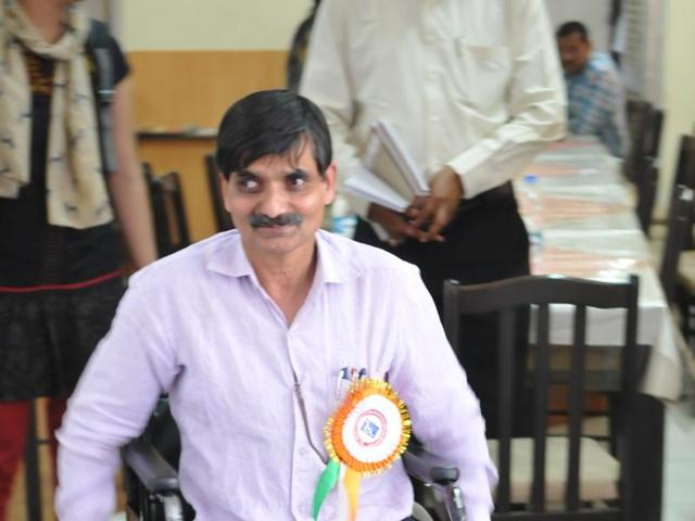 Disability expert GN Karna was in Bhopal recently.