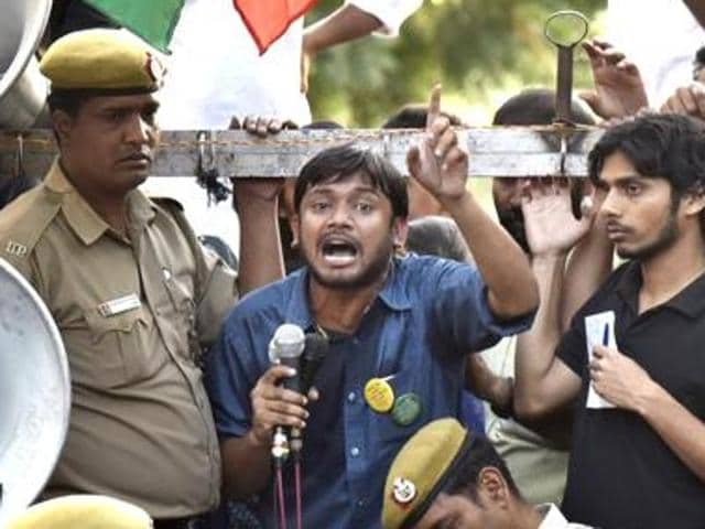 Kanhaiya, who was granted six months interim bail on March 2, is facing sedition charge in connection with an event at JNU on February 9 where anti-national slogans were allegedly raised and Parliament attack convict Afzal Guru hailed as a 'martyr'.