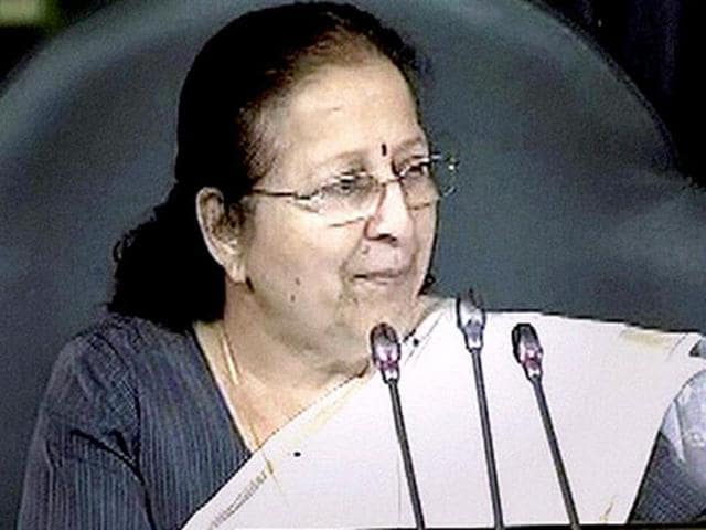 Lok Sabha Speaker Sumitra Mahajan during proceedings of the lower House of Parliament.