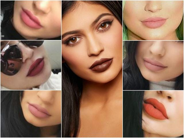 The Keeping Up With The Kardashian's star had to turn to using a brown eyeliner she already owned in order to get the desired shade for her famous lips, reported OK! magazine