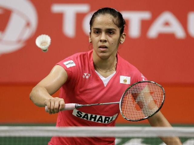 Saina Nehwal saw off Kristina Gavnholt, world number 41 from Czech Republic, 21-18 21-17 in a 34-minute pre-quarterfinal.
