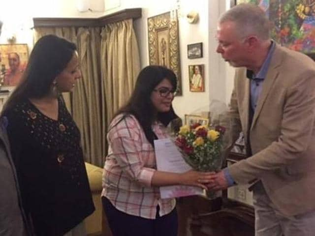 Geetakshi Arora of SOAS South Asia Institute has won the first 'Noor Inayat Khan Prize' for her MA dissertation. (Facebook page of Noor Inayat Khan Memorial Trust)