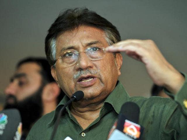 Pakistan's former president Pervez Musharraf speaks during a news conference in Dubai, United Arab Emirates.