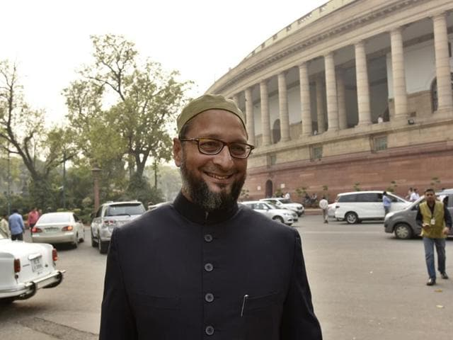 Dwivedi, the son of BJP's Allahabad district unit president Ranraksha Dwivedi, had called Owaisi (in picture) a traitor and said he didn't have the right to live in India.